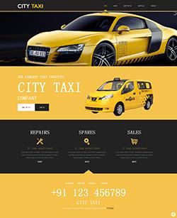 出租车公司HTML5网站模板
