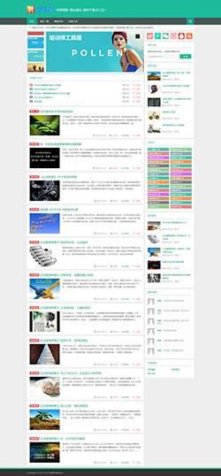 【自动适应】HTML5绿色响应式博客文章类织梦整站源码